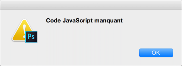 code JavaScript manquant