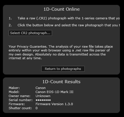 1D-Count Online