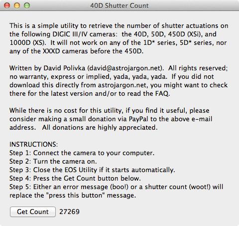 40D Shutter Count